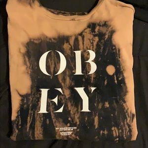 Obey Bleached Long Sleeve Top
